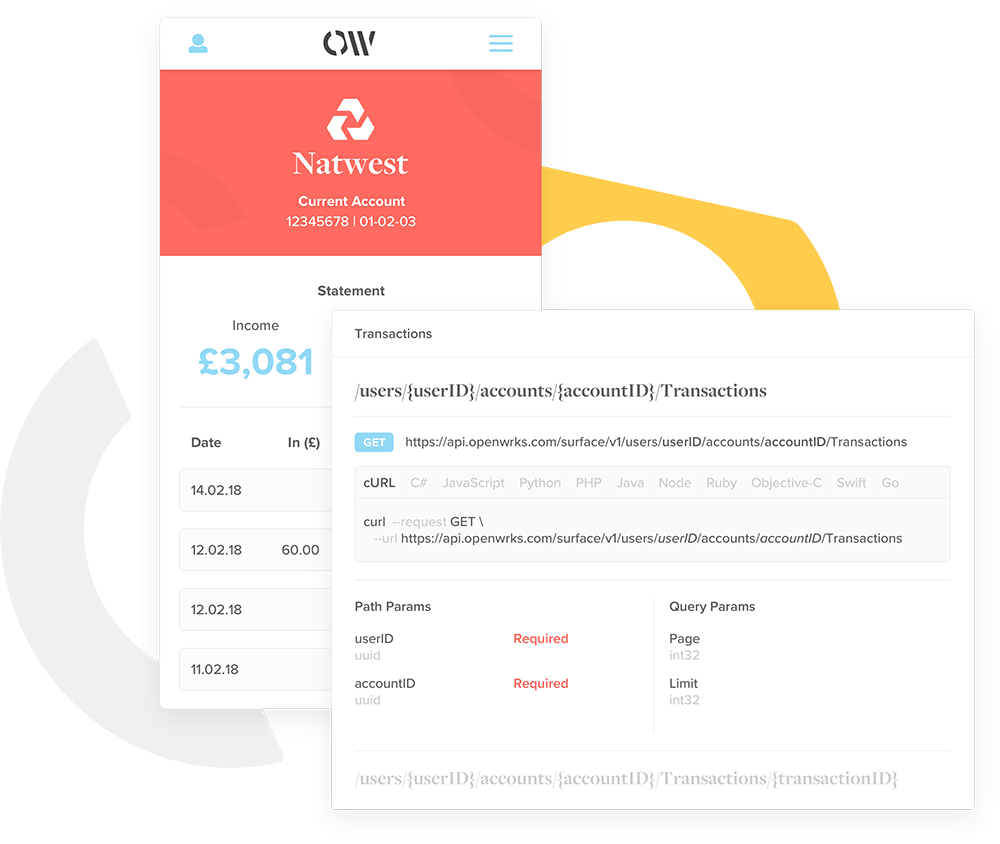 Product image about Effortlessly integrate Open Banking data with the OpenWrks API
